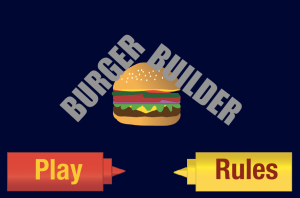 BurgerBuilder Landing Screen